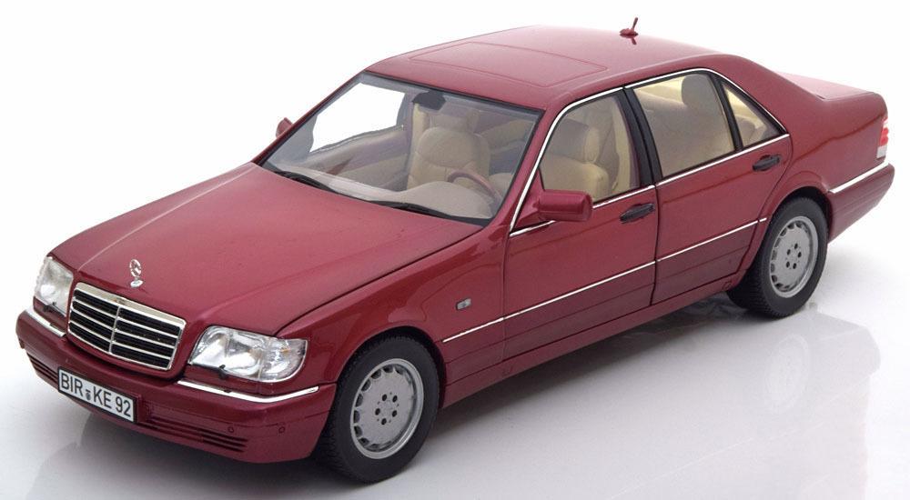 Коллекционная модель Mercedes-Benz S500 (W140) 1997 Red Metallic
