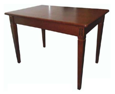 Стол обеденный Барсук деревянный прямоугольный коньяк