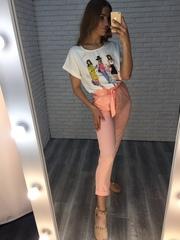 розовый летний костюм интернет магазин