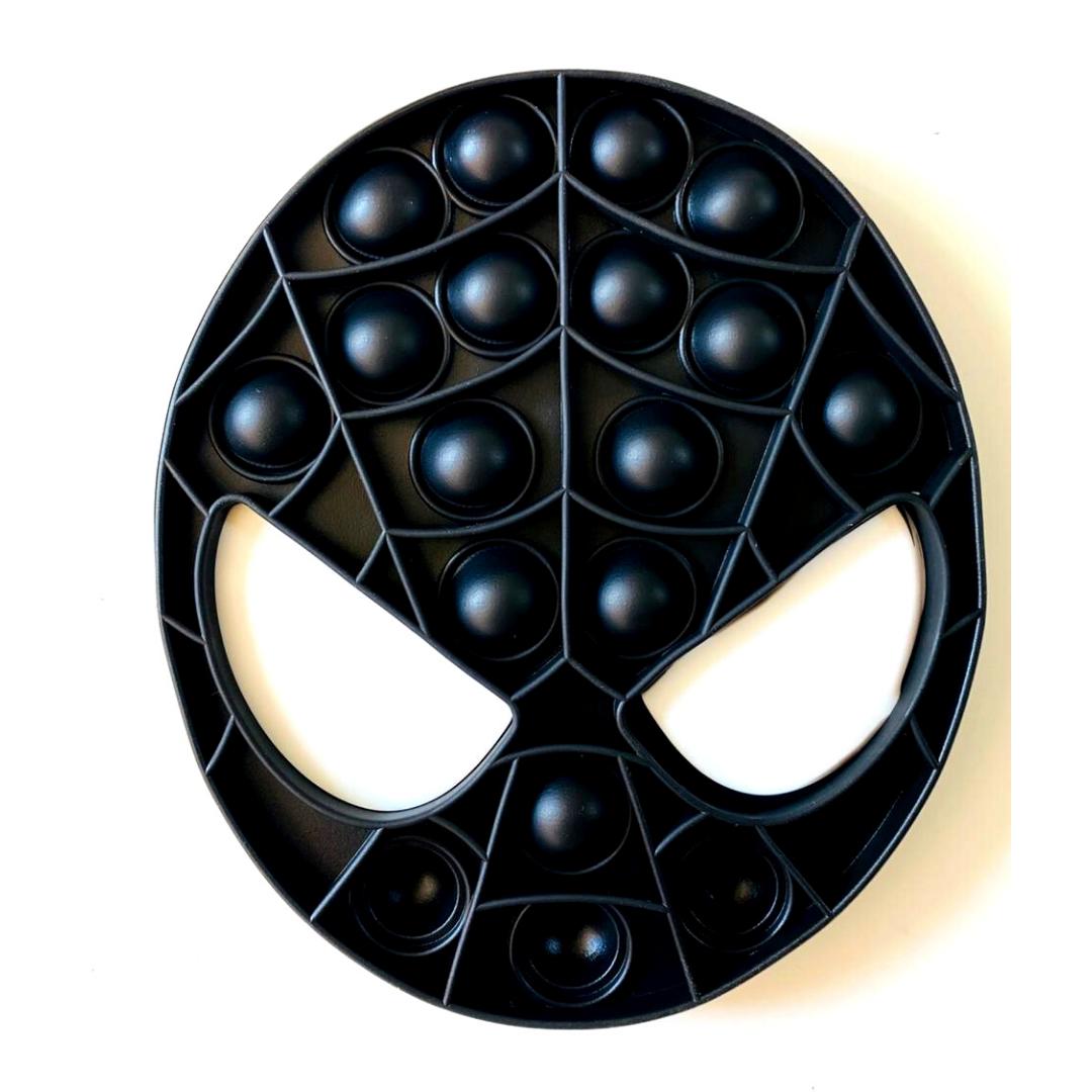 Пупырка вечная антистресс pop it (поп ит) человек-паук чёрный