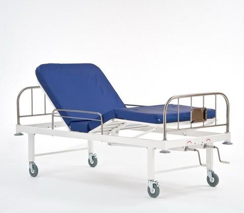 Кровать медицинская четырёхсекционная с винтовыми регулировками КМФ 943 нерж - фото