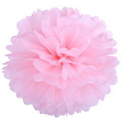 Помпон из бумаги 40 см, светло-розовый