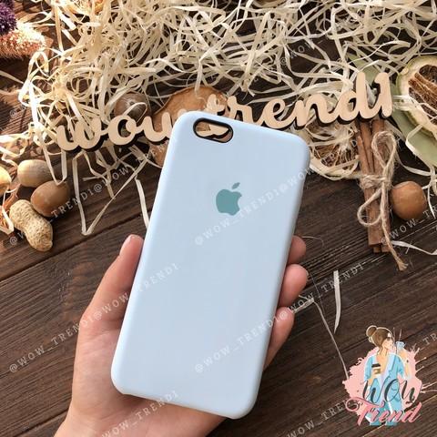 Чехол iPhone 5/5s/SE Silicone Case /sky blue/ светло-голубой 1:1