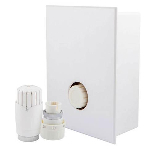 Комплект Kombi RTL с термоголовкой Diamant Белый, с термостатическим клапаном G3/4