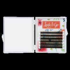 Цветные ресницы Lash&Go (микс) 6 линий