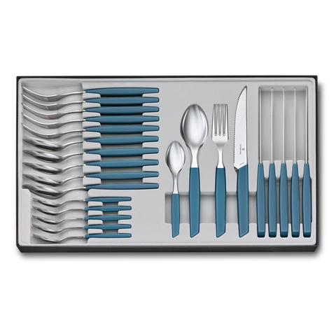 Набор Victorinox кухонный Swiss Modern, 24 предмета, васильково-синий