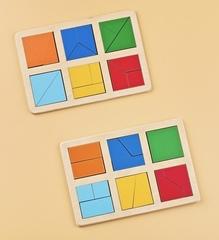 Логическая игра Сложи квадрат Б.П. Никитин уровень 1