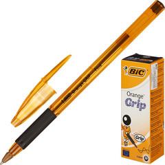 Ручка шариковая одноразовая BIC Orange grip fine черная (толщина линии 0.3 мм)