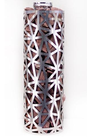 Сетка-каменка №2 (Лед) — d-250 — h-500 мм — нерж 1,5 мм AISI 430