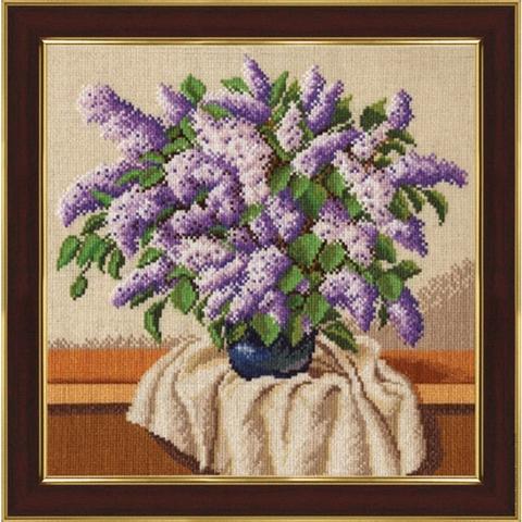 Размер: 27,3×28 см;¶Канва: Аида хлопок-лен 14;¶Вышивается в 2 нити;¶Количество цветов: 36.