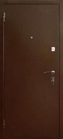 Дверь входная ДС-150 стальная, беленый дуб, 2 замка, фабрика Меги