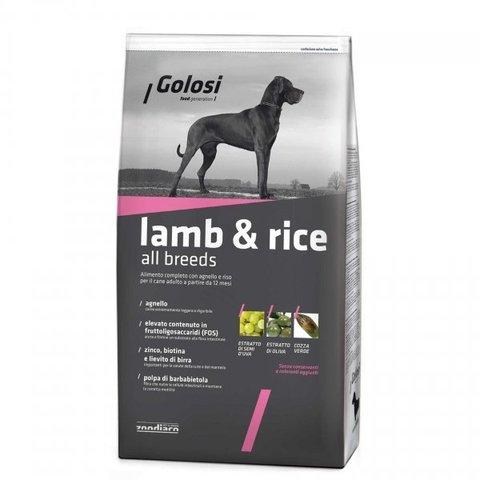 Сухой корм GOLOSI LAMB & RICE ALL BREEDS для взрослых собак всех пород с ягненком и рисом, 12 кг.