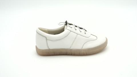 Белые кожаные полуботинки на высокой подошве