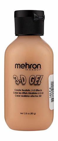 MEHRON 3-D Гель для спецэффектов Makeup 3-D Gel (2 oz), Fleshtone - (цвет кожи), 60 мл