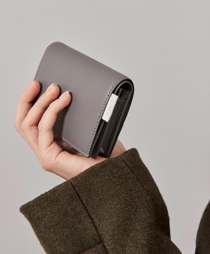 Мини портмоне серого цвета