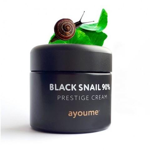 Ayoume 90% Black Snail Prestige Cream крем для лица с 90% муцина черной иберийской улитки