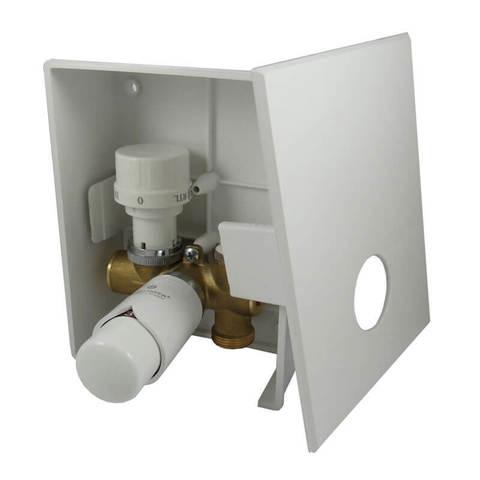 Комплект Kombi RTL с термоголовкой Brilliant Белый, с термостатическим клапаном G3/4