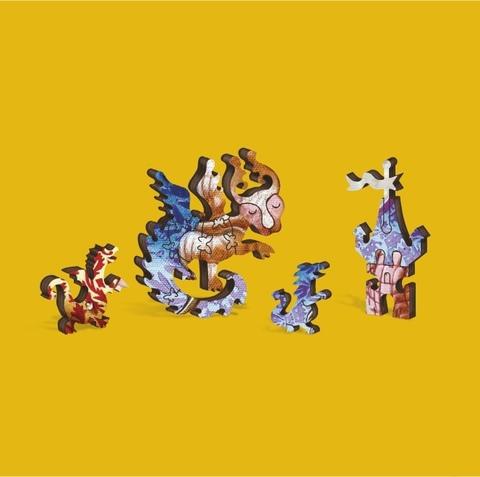 Дракон и бабочка от DAVICI - сборные пазлы причудливой формы, это картины, которые вы собираете сами
