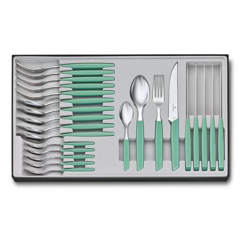 Набор Victorinox кухонный Swiss Modern, 24 предмета, мятно-зелёный