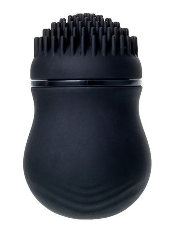 Черный стимулятор клитора PPP CURU-CURU BRUSH ROTER