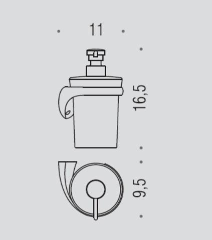 Дозатор для жидкого мыла Colombo Link B9310SX, хром  схема