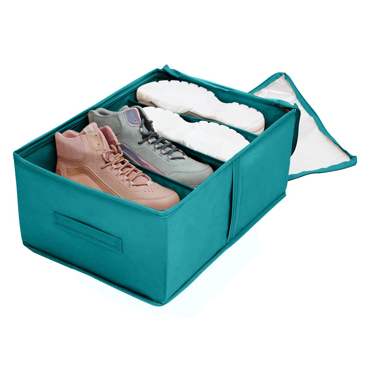 Кофр для обуви 34х48х20 см, 4 ячейки, Милан
