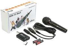 Микрофон Ritmix RWM-101 до 15м беспроводной black