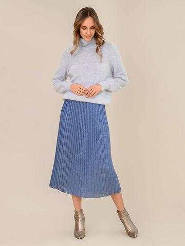 Женская юбка денимного цвета из вискозы - фото 2