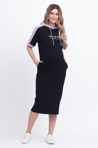 Платье для беременных и кормящих 12628 черный