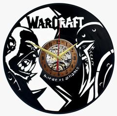 Варкрафт Часы из Пластинки — Орда против Альянса