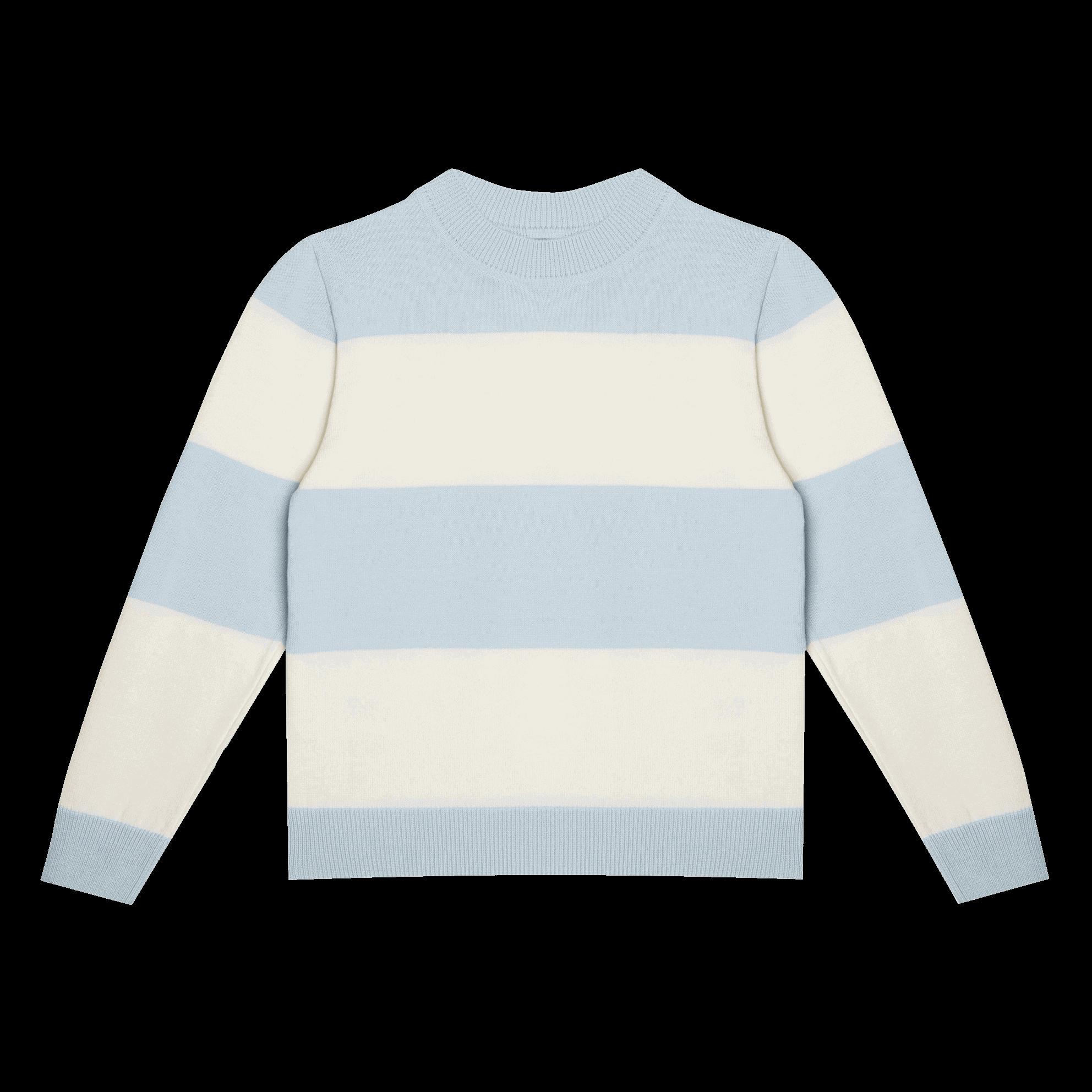Джемпер в бело-голубую полоску