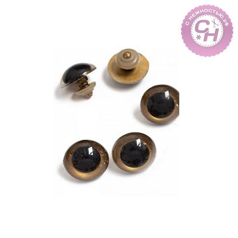 Глазки винтовые с заглушками, полупрозрачные, 2,2 см, 1 пара.