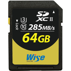 Карта памяти Wise 64GB UHS-II SDXC 285 / 250 MB/s