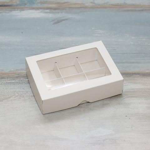 Коробка для конфет (на 6 шт.) белая