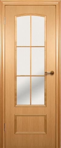 Дверь ДО 208 (бук, остекленная CPL), фабрика Краснодеревщик