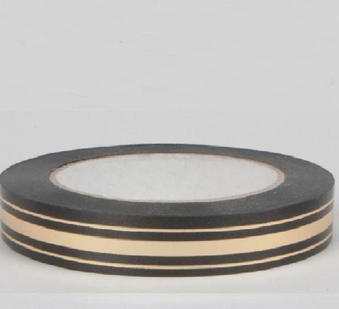 Лента золотая полоса Россия (размер: 2 см х 50 ярдов) Цвет: черный