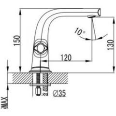 Смеситель KAISER Topaz 17111 для раковины схема