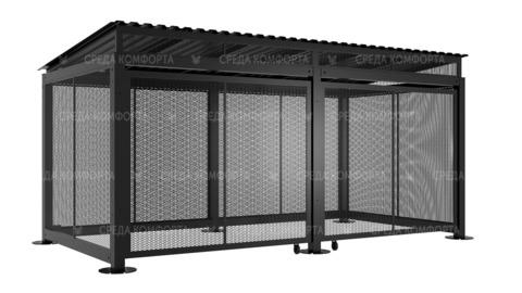 Навес для мусорных контейнеров NVS0036