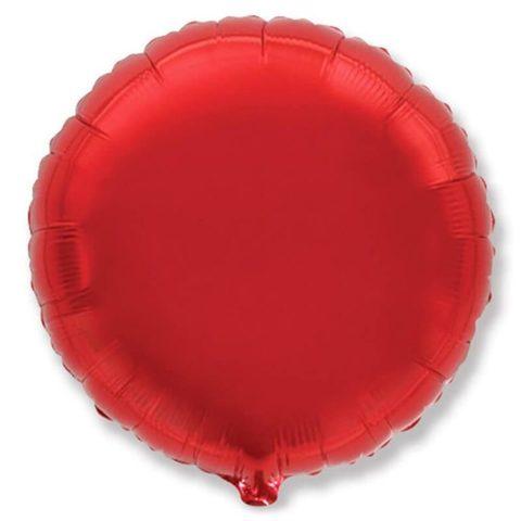 Шар круг 82 см красный