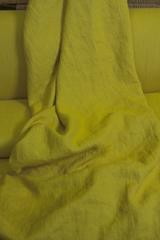 Ткань льняная, с эффектом мятости, цвет: салатовый