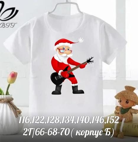 Детская футболка с новогодним рисунком