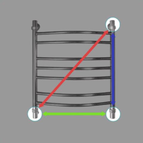 Полотенцесушитель водяной Energy PRESTIGE 1000x500