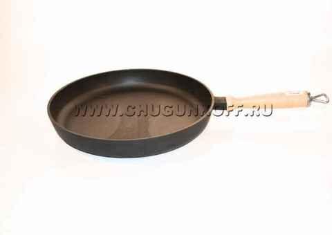 Сковорода с деревянной ручкой 280х40