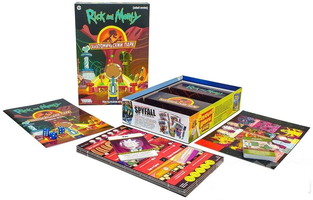 Настольная игра Рик и Морти: Анатомический парк - комплектация