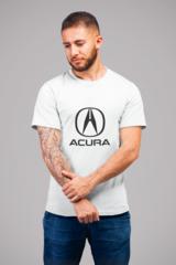 Мужская футболка с принтом Акура (Acura) белая 002