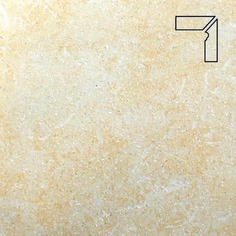 Stroeher - Keraplatte Roccia 833 corda длина стороны угла 290 артикул 9118 - Плинтус клинкерной ступени правый