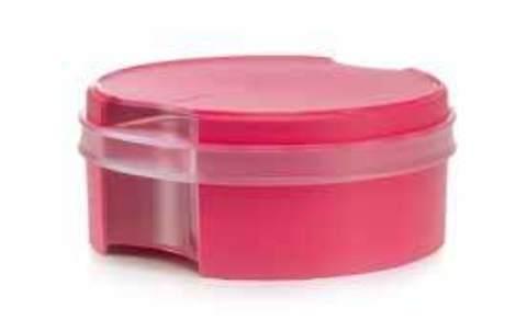 Коробочка для печенья в розовом цвете круглая