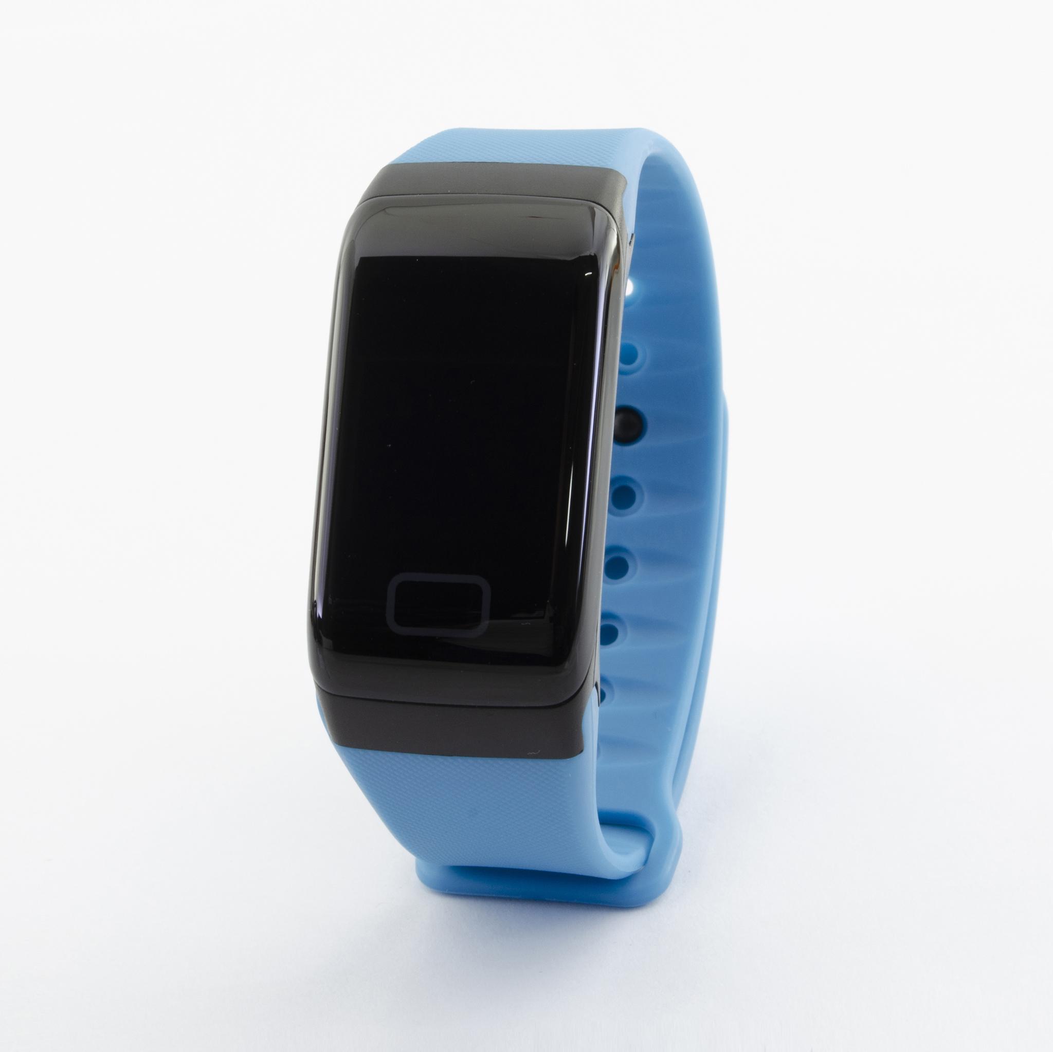 Браслет здоровья с автоматическим измерением давления, пульса и кислорода Health Band №1 (синий)