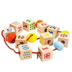 Шнуровка Alatoys Кубики с печатью и шайбы