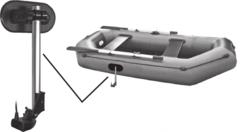 Крепление для датчика на ПВХ лодку TransMount KRL-300